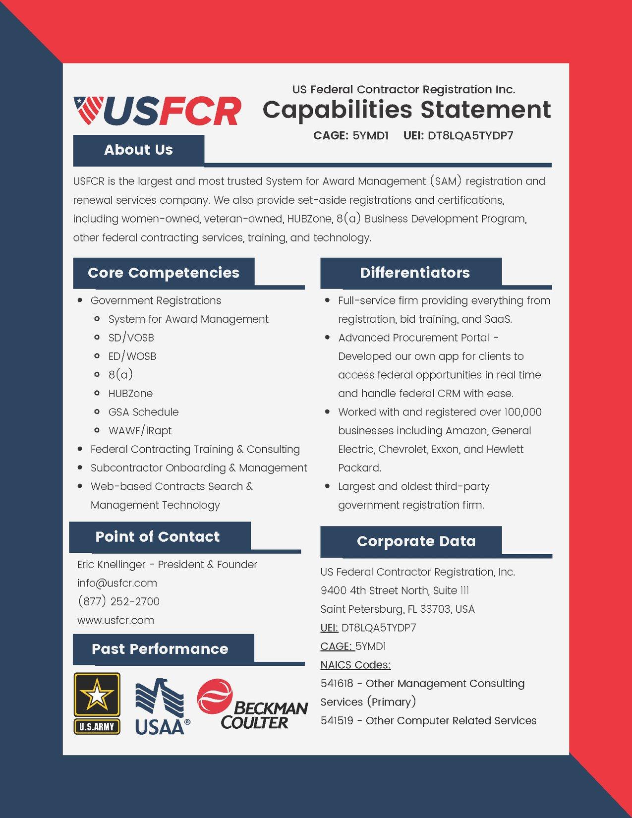 capabilities statemelnt