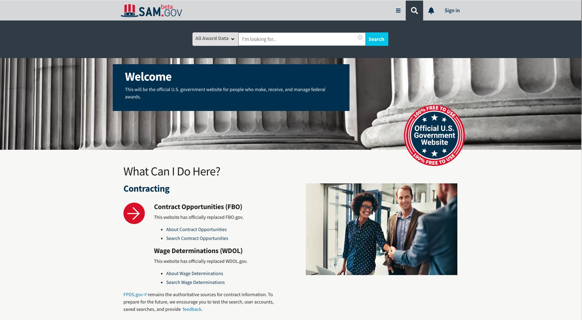 beta.SAM_homepage